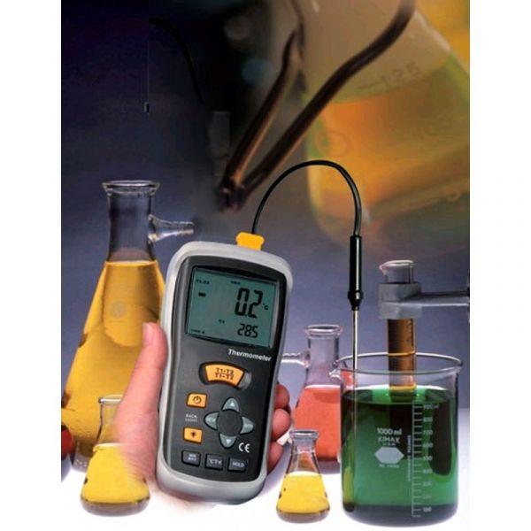 Thermomètre type K universel - Ecran GEANT - Sonde filaire type K - Mémoire MAXI
