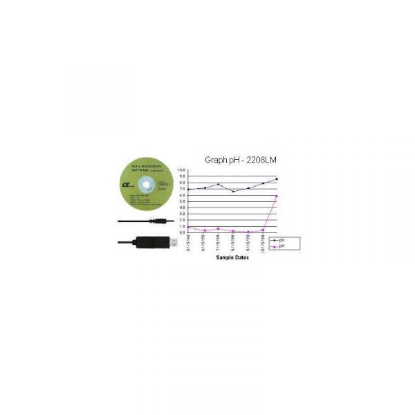 Ph-mètre et thermomètre, mesure de pH 0 à pH 14