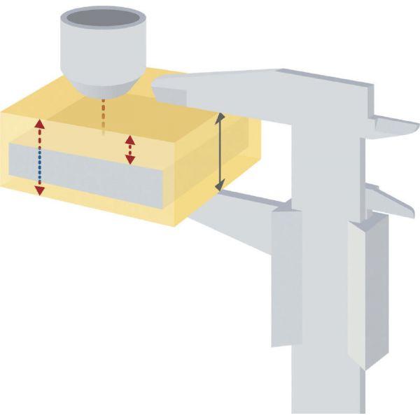 Mesureur d'épaisseur de matériaux compact avec sonde externe