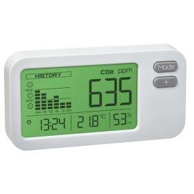 Détecteur de CO2 compact avec alarme visuelle, mesureur de la qualité de l'air