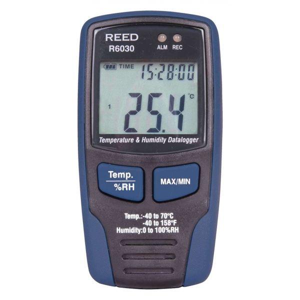 Enregistreur de données de température et d'humidité, mesure de -40 à 70°C et 0 à 100% HR