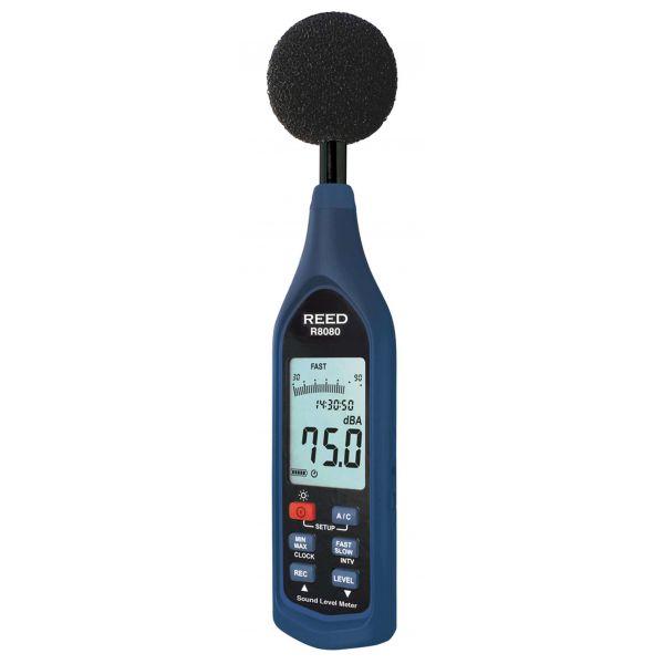 ,Sonomètre,, enregistreur de données et diagramme à barres,, 30 à 130 dB,