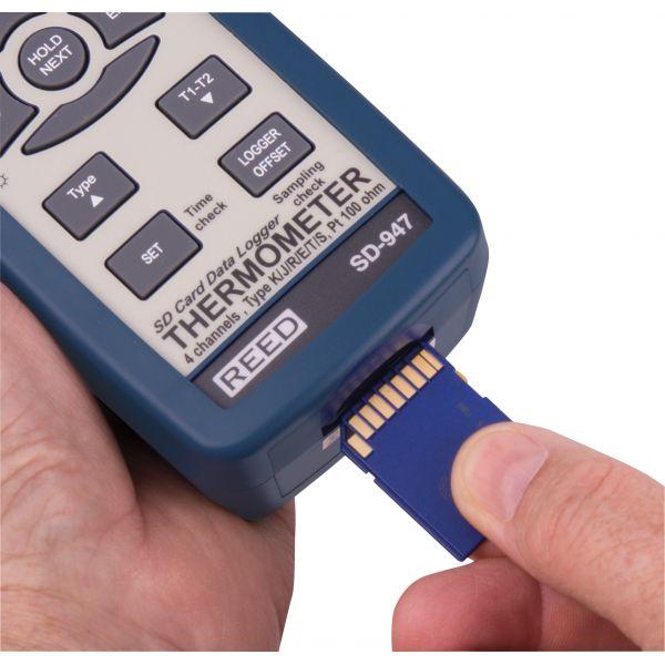Thermomètre thermocouple à 4 canaux/enregistreur de données
