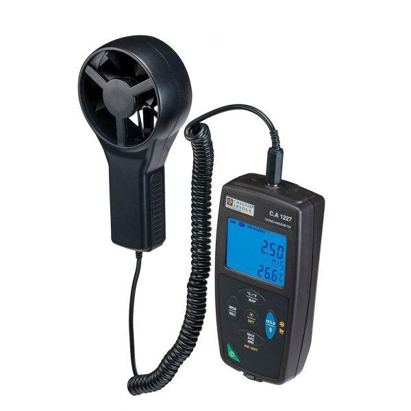 Thermo-anémomètre portable, de 0.50 m/s à 27.0 m/s