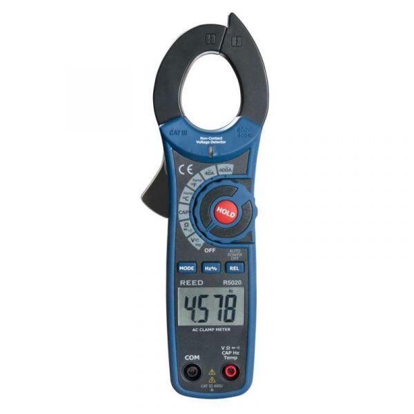 Pince ampèremétrique c.a. avec température et détecteur de tension sans contact