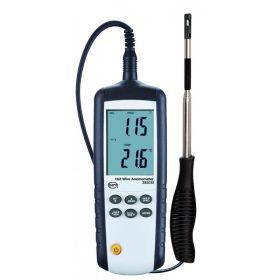Anémomètre à fil chaud et thermomètre + logiciel