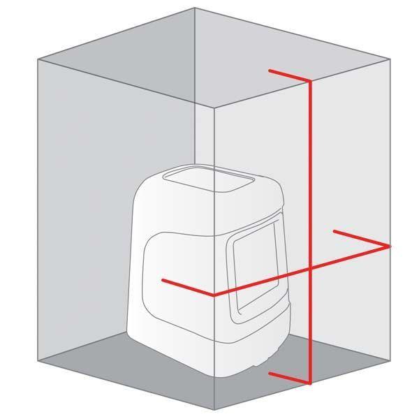 Niveau laser automatique 2 lignes