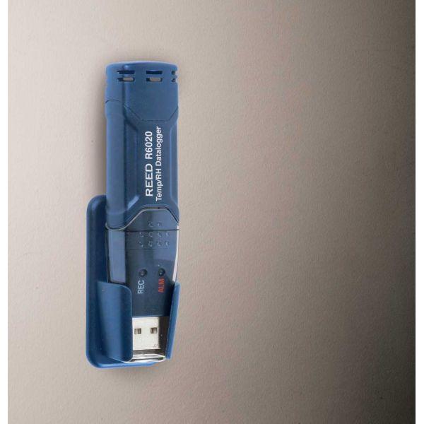 Enregistreur de données USB de temp. et d'humidité, mesure de -40 à 70°C et 0 à 100% HR