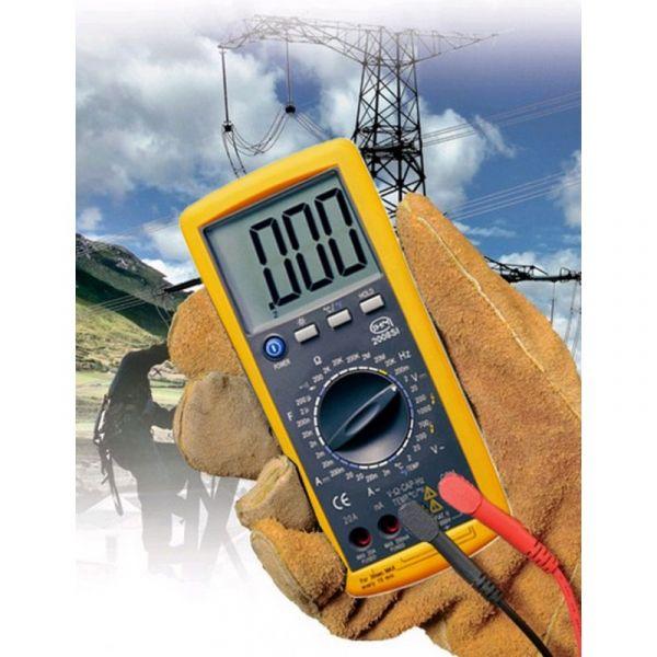Multimètre digital jusqu'à 20A - Sonde température type K filaire